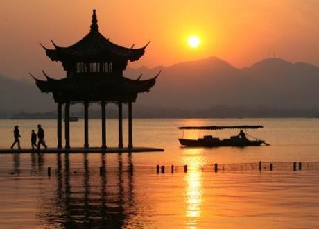 Le lac de l'Ouest à Hangzhou