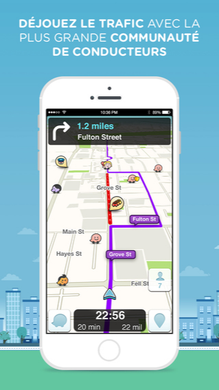 Waze GPS social, cartes et trafic pour iPhone, iPod touch et iPad dans l'App Store sur iTunes