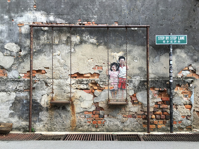 Img6_Janko Luin__Brother and Sister on a Swing_ mural_Penang