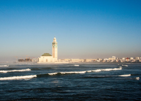 Christopher_Rose_Casablanca Harbor and Hassan II Mosque
