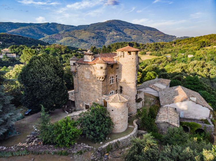 le Chateau de Hautsegur en Ardèche