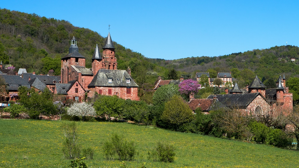 Collonges-la-Rouge , en Corrèze , plus Beaux Villages de France