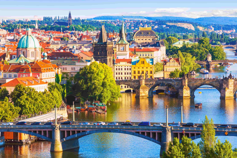 Prague_République tchèque_Bridges of Prague, Czech Republic