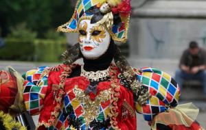 Le costume de l'Arlequin Carnaval de Venise 2019