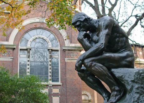 Le penseur au musée Rodin de Paris