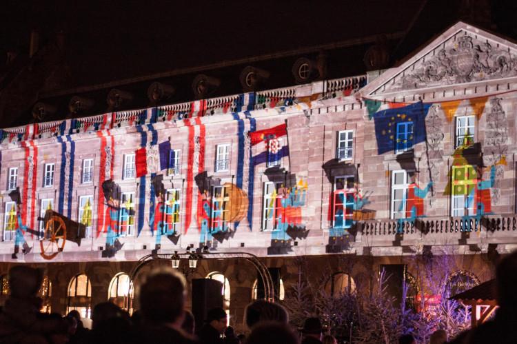Les éclairages du marché de Noël de Strasbourg