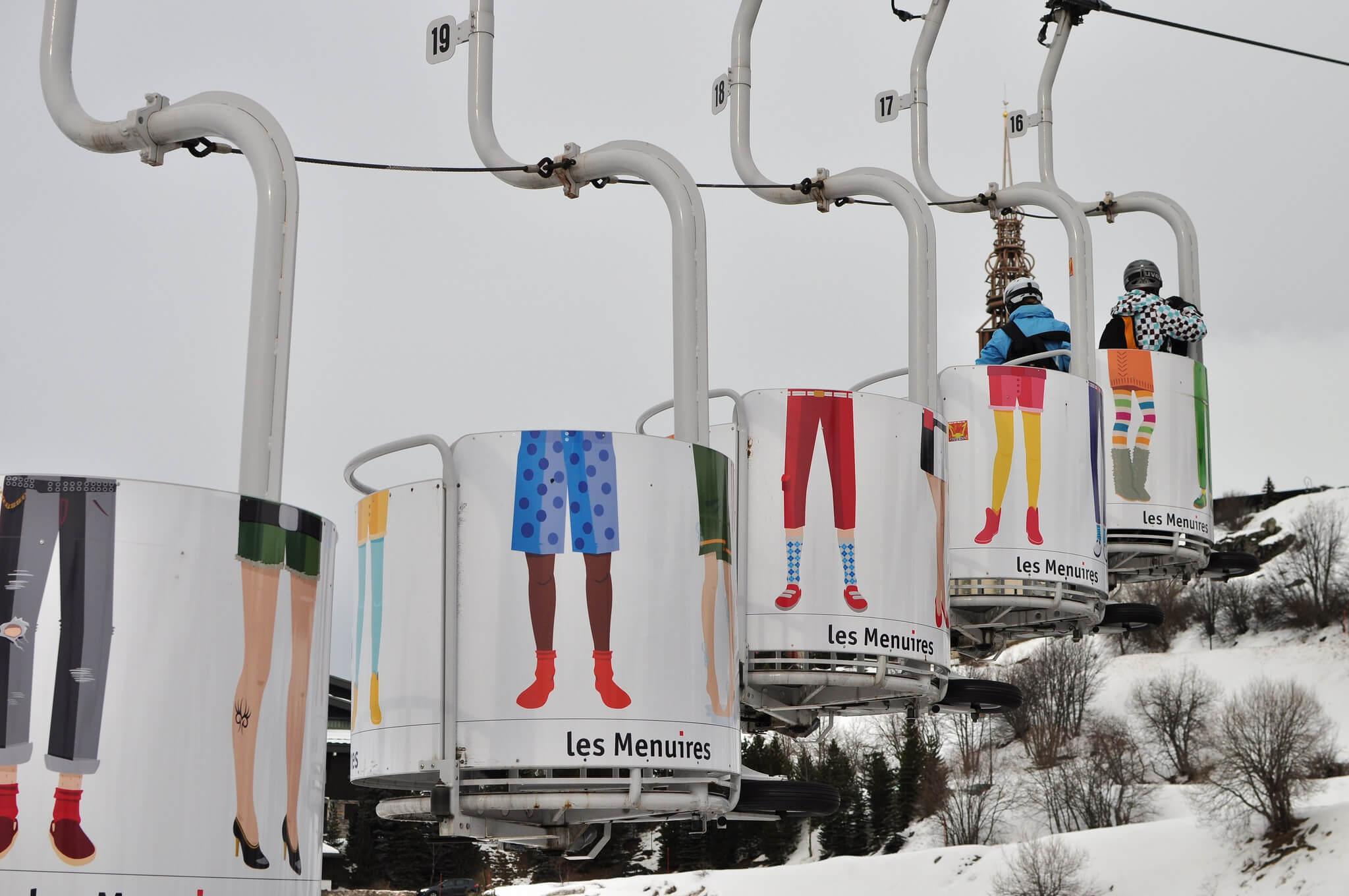Les ménuires stations de ski populaire sur Facebook
