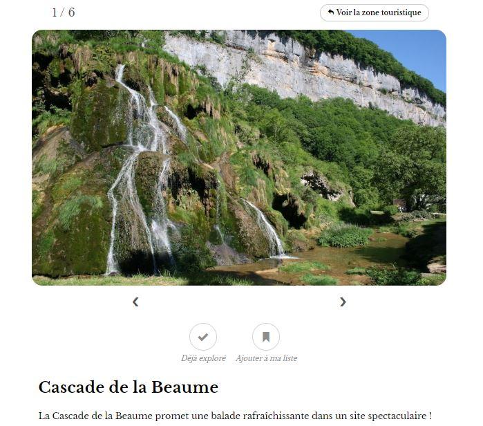 Cascade de la Baume - Explore la France