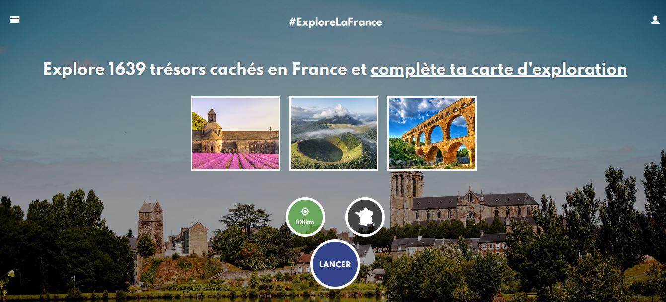 La homepage ExploreLaFrance