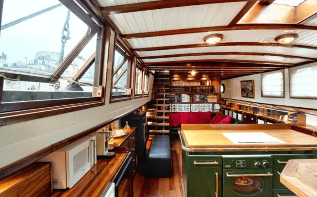 Airbnb sur péniche à Paris