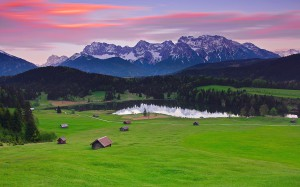 Germany-Bavaria-landscape-mountains-alps-forest-grass-houses-lake_1920x1200
