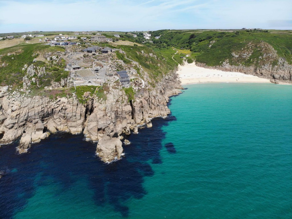 Aerial view of the Minack Theatre