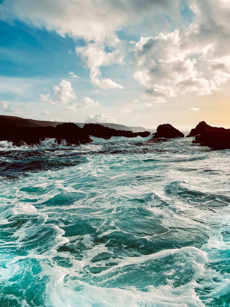 Views of the Atlantic coastline