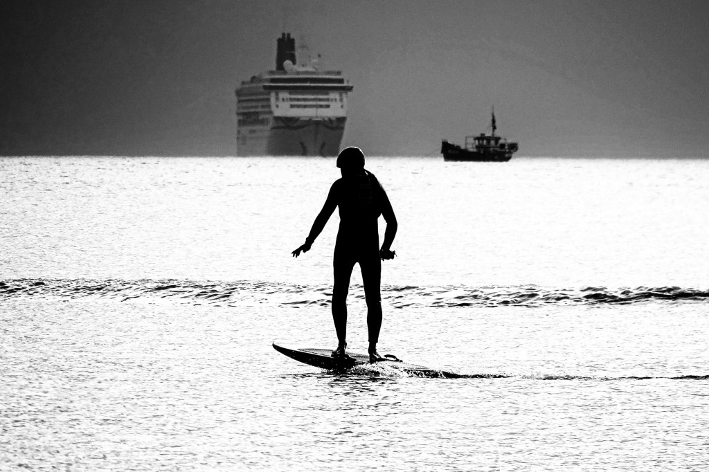 Surfer at Poole Harbour © Belinda Fewings