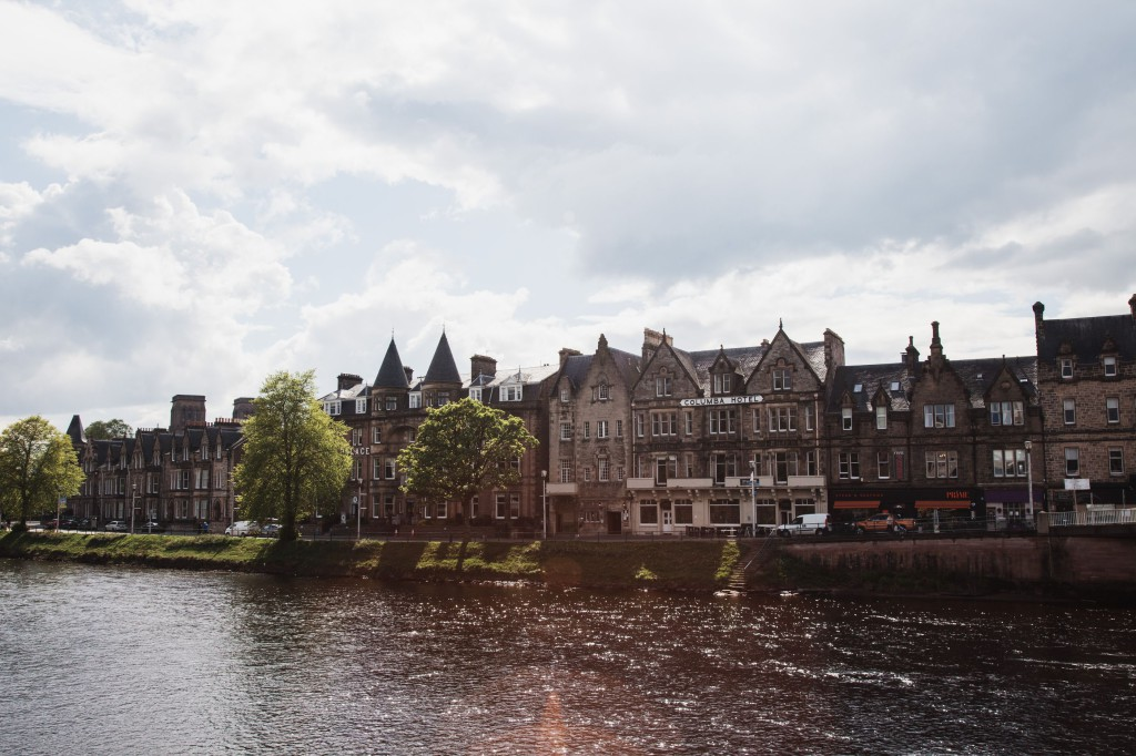 Snapshot of Inverness from the banks of the River Ness © Jillian Kim